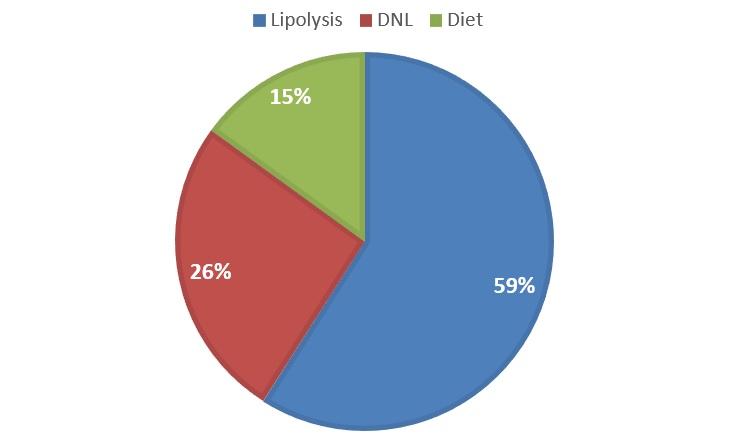 De novo lipogenesis pie chart